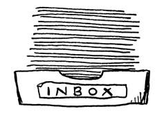 Sketch of an inbox overflowing