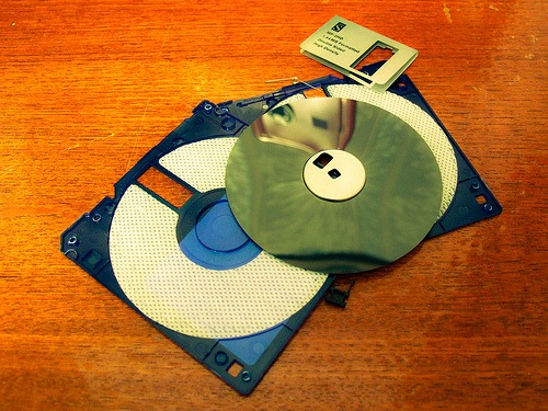 Floppy disk dismantled